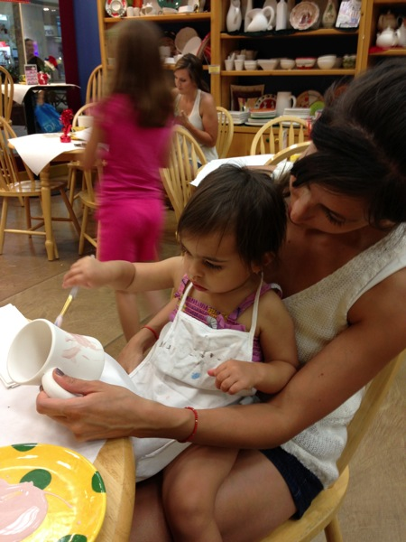Painting at color me mine