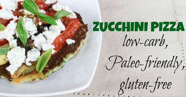Zucchini pizza
