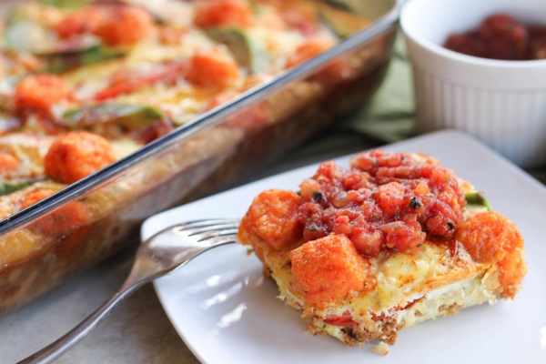 Fiesta egg casserole - Mexican inspired breakfast