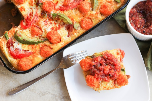 Mexican egg casserole with chorizo