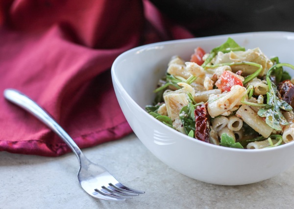 serving of best pasta salad ever