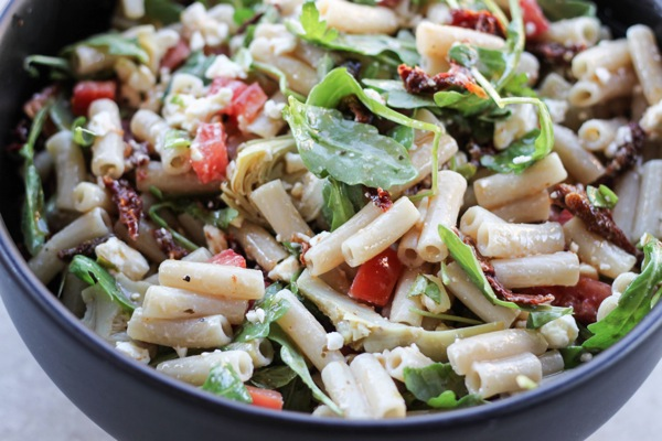 best pasta salad ever closeup