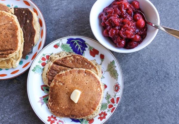 cranberry sauce with pancakes