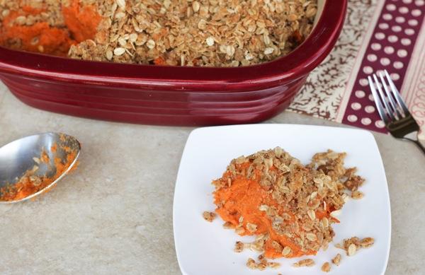 plated sweet potato casserole