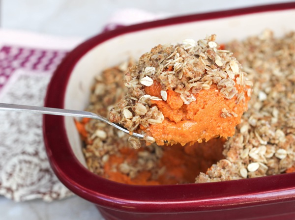 sweet potato casserole close up