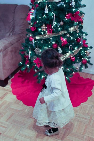 Livi and Christmas tree