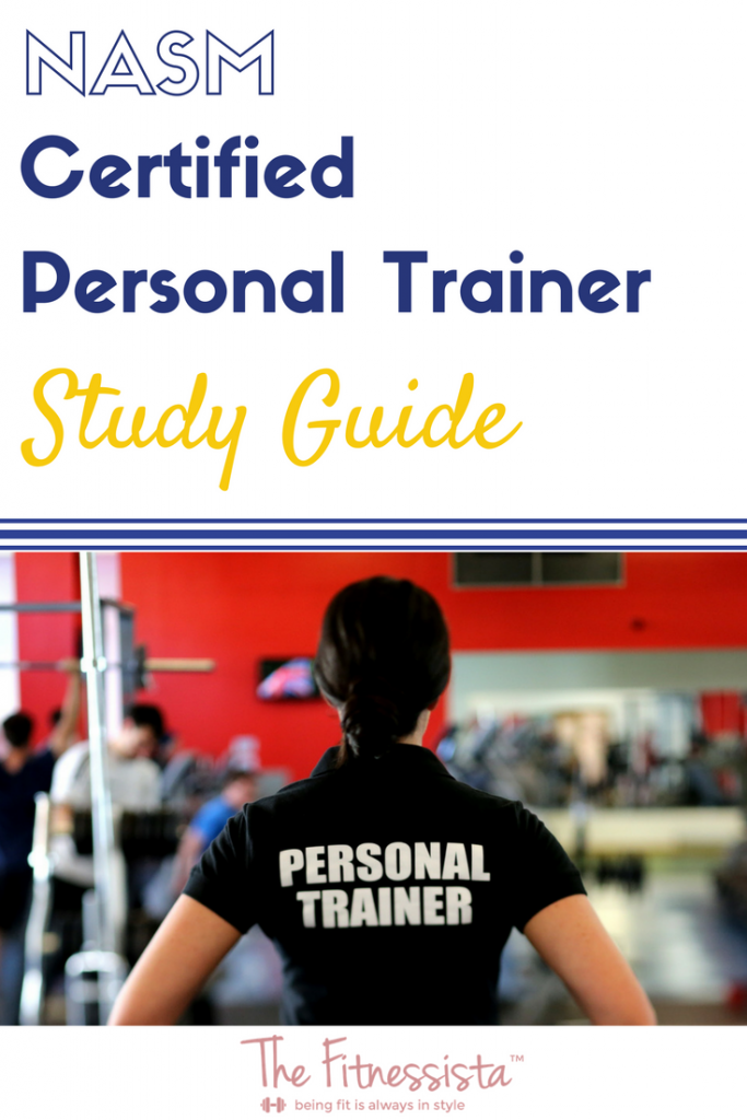 NASM personal training study guide - the tools and tips that helped me as I studying for the NASM Certified Personal Trainer Exam. fitnessita.com | #studyguide #NASMpersonaltrainingstudyguide #nasm