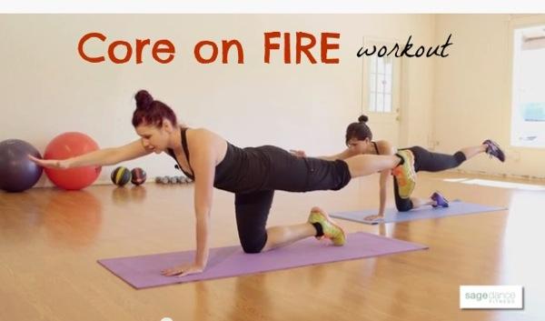 Core on fire