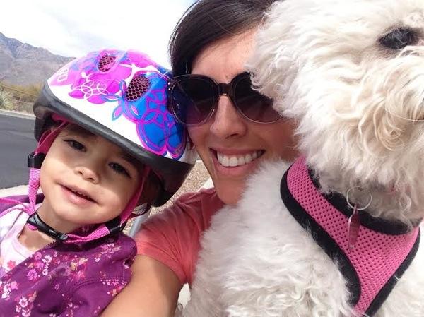 Family walk selfie