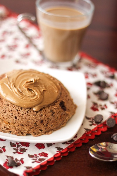 microwave chocolate protein muffin