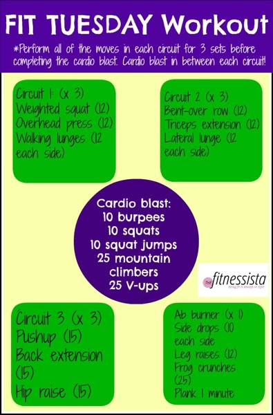 Fit tuesday workout