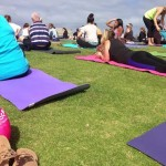 Meals, fitness, yoga on the beach