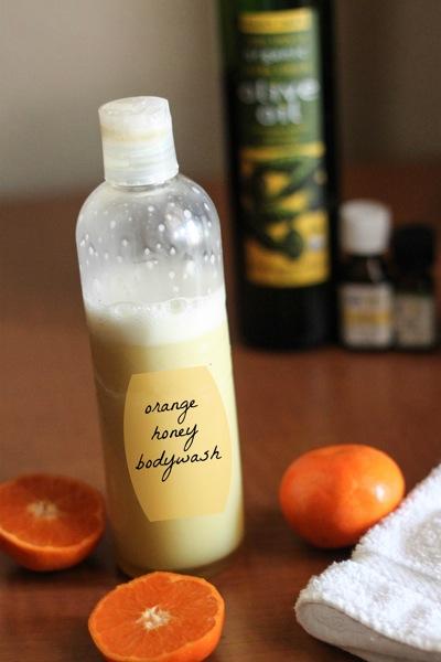 Orange honey bodywash