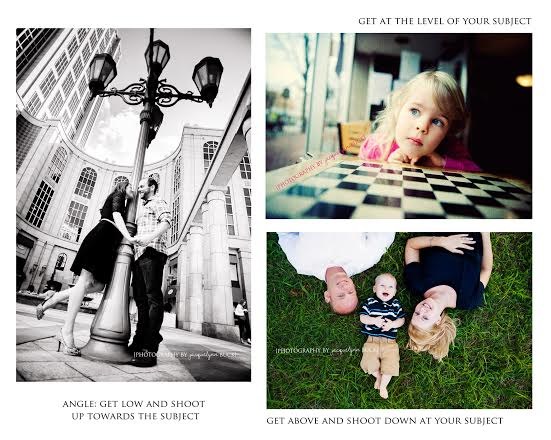 photographing from different angles