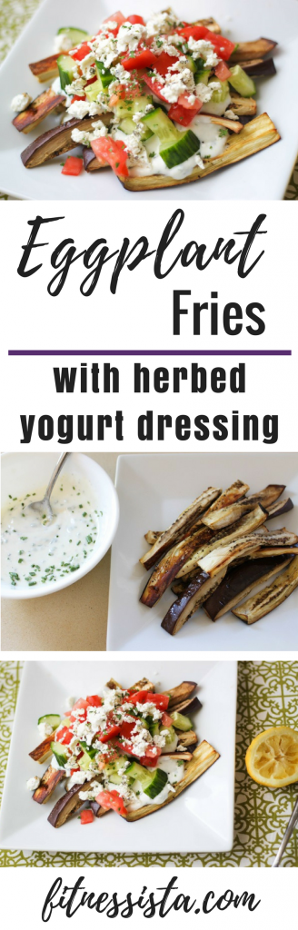 Eggplant Fries with Herbed Yogurt Dressing