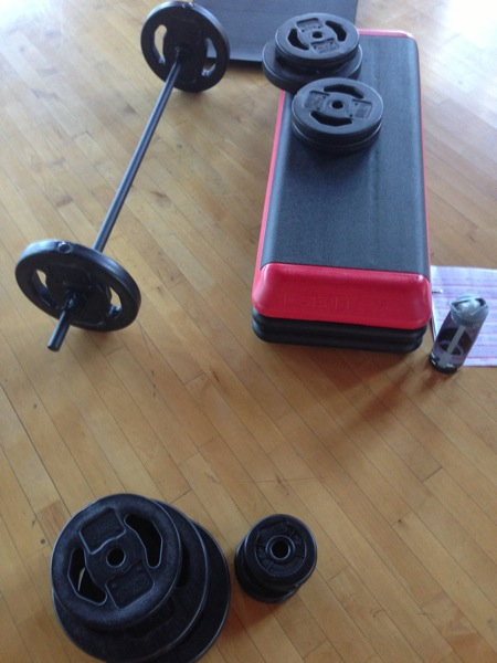 BODYPUMP equipment
