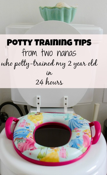 Potty training tips from two nanas | fitnessista.com | #pottytraining #pottytrainingtips