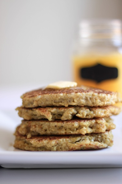 stack of quinoa pancakes