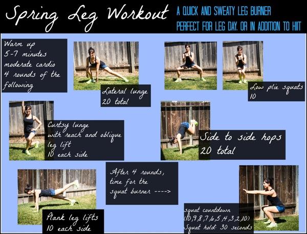 Spring leg workout