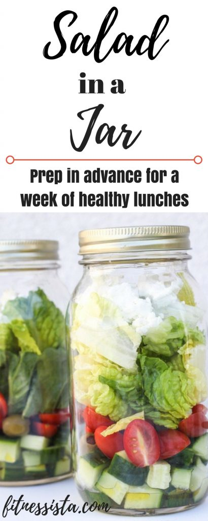 Salad in a jar - prep in advance for a week of healthy lunches! fitnessista.com