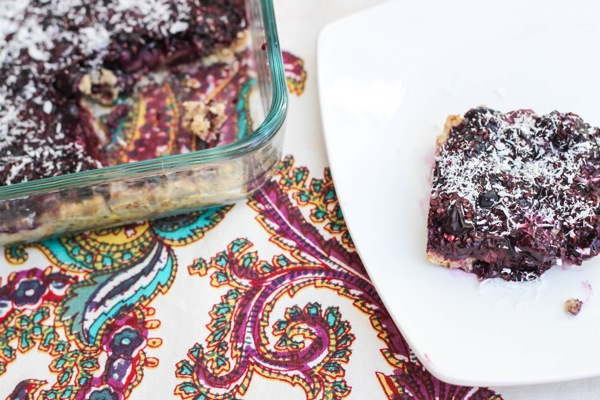 no bake Blueberry jam bars