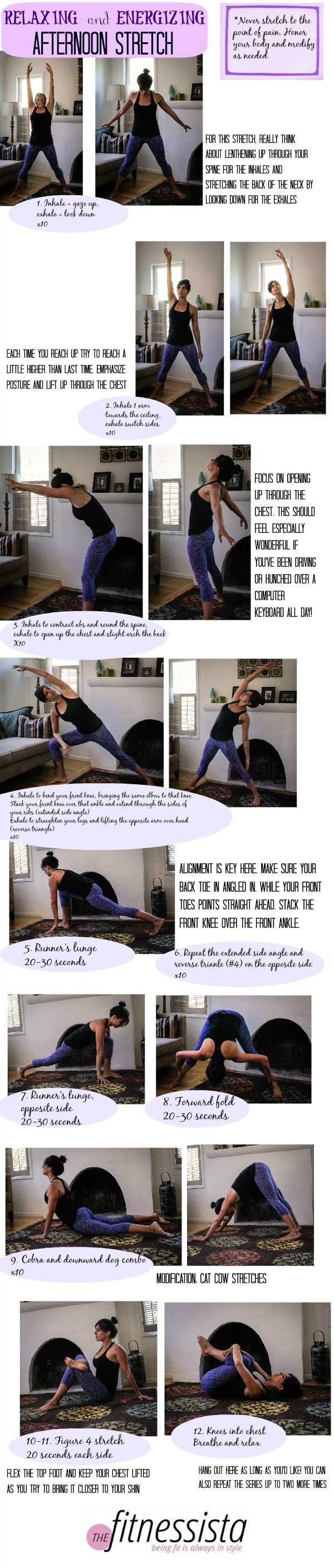 Relaxing and energizing stretch