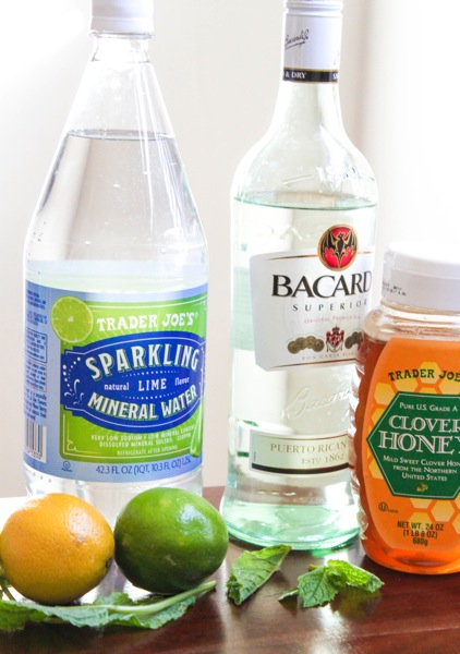 ingredients for light mojitos