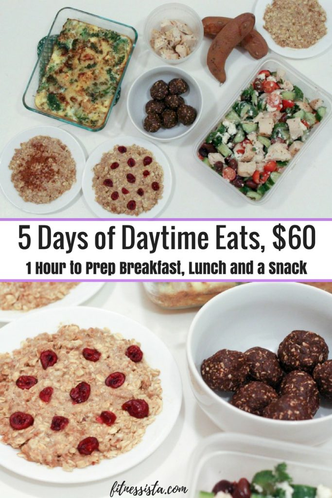 One-hour meal prep for 5 days of daytime eats