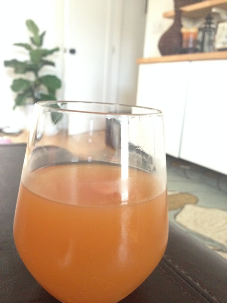 orange-ginger homemade kombucha
