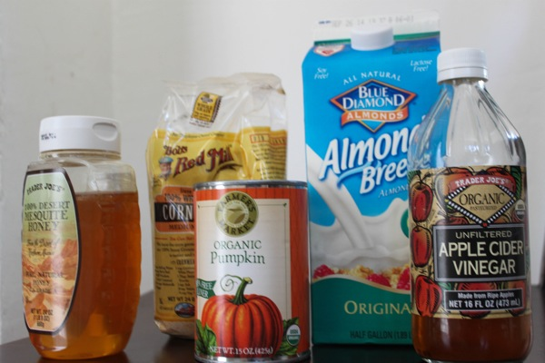 pumpkin cornbread ingredients