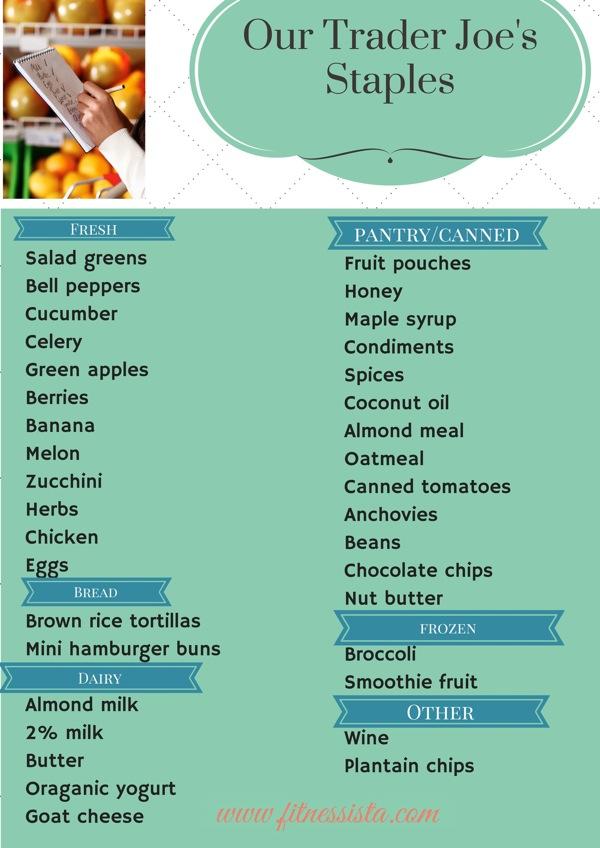 Clean eating trader joes list