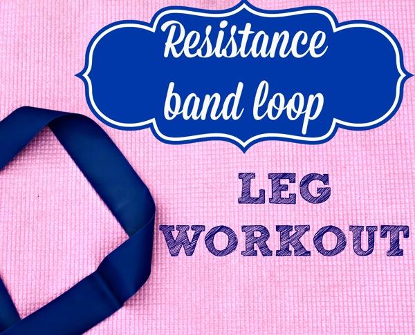Killer resistance band leg workout