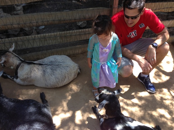 Tom and livi w goats