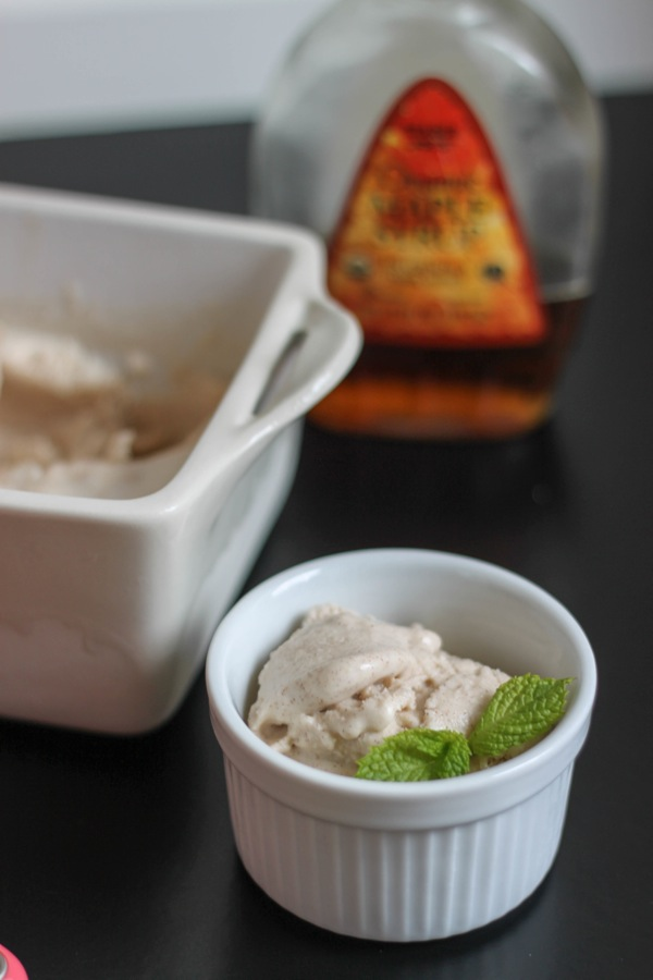 Vegan maple cinnamon ice cream