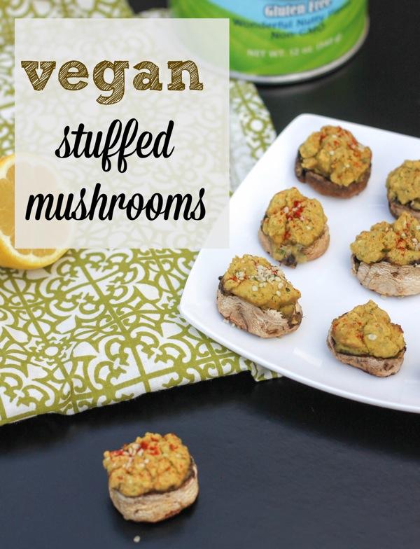Vegan stuffed mushrooms  1 of 1
