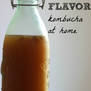 Make and flavor kombucha at home! Way less expensive than buying it, and you can customize your flavors. It's not as scary as it looks.