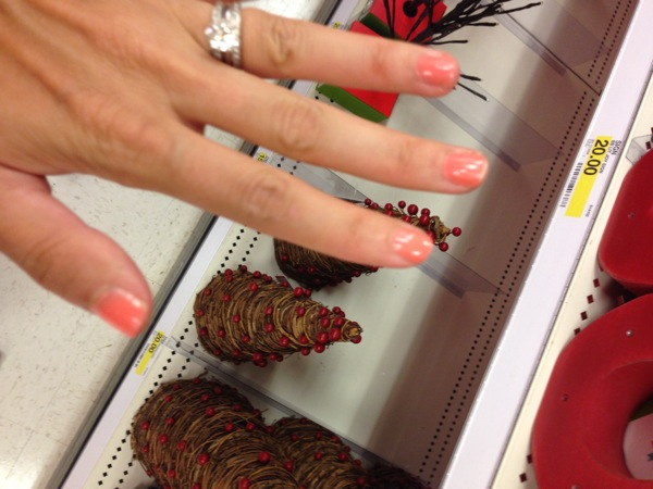 Orange nails at Target