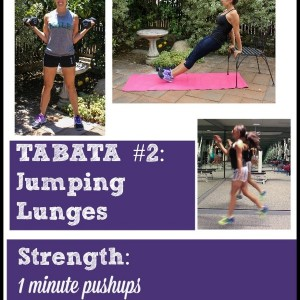 Build and burn workout! Emphasizing Tabata intervals for a quick cardio blast plus strength training rounds to encourage lean muscle. Quick and killer workout!