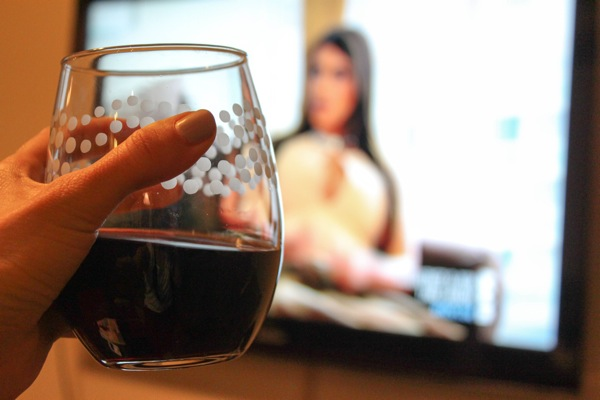 wine and TV
