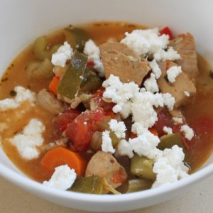slow cooker Greek chicken soup