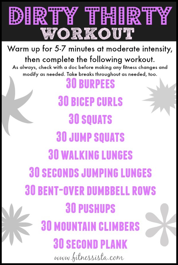 Dirty thirty workout