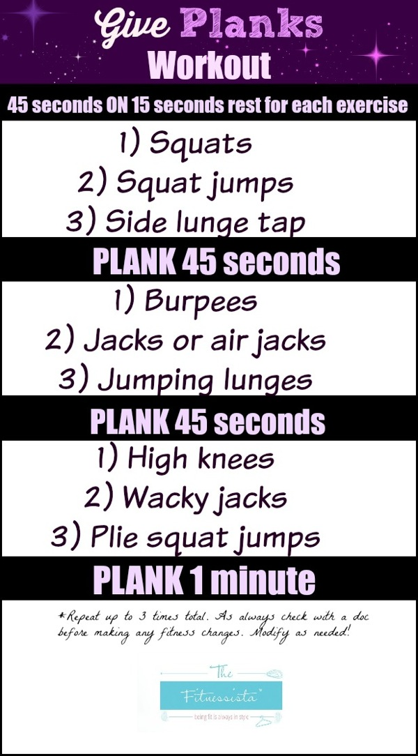 Give planks workout - Just 10 minutes of heart-pumping HIIT combine with core-strengthening planks will keep your workouts going strong this holiday season