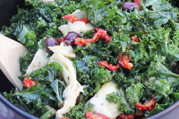 kale salad closeup