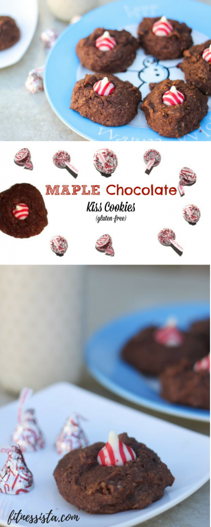 Gluten-free Maple Chocolate Kiss Cookies