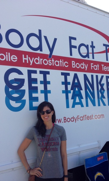 Hydrostatic Body Fat Test Tank
