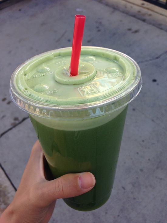 green lemonade with extra ginger