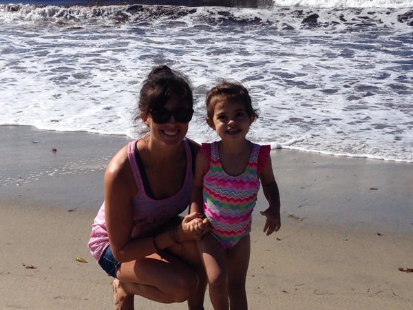 Me and liv at the beach
