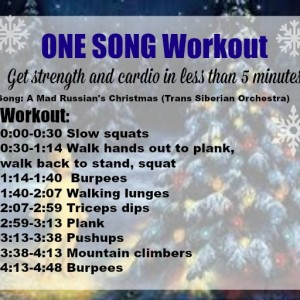 One song workout: Holiday Fit Frenzy