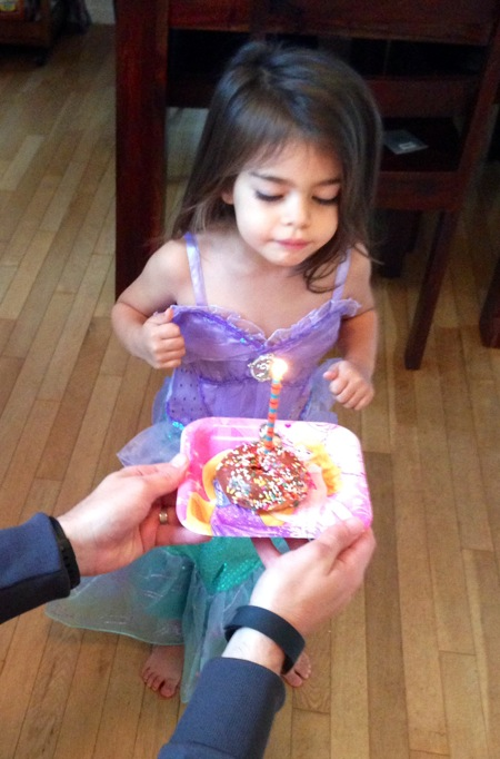 Birthday donut