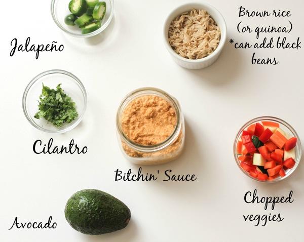 Bitchin bowl ingredients